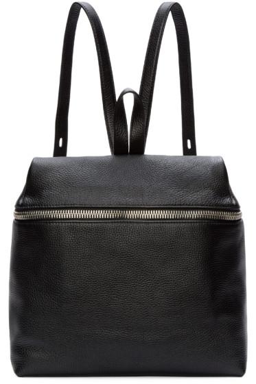 Kara - Black Pebbled Leather Backpack