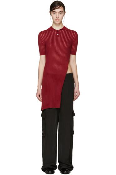 Yang Li - Red Long Knit Polo