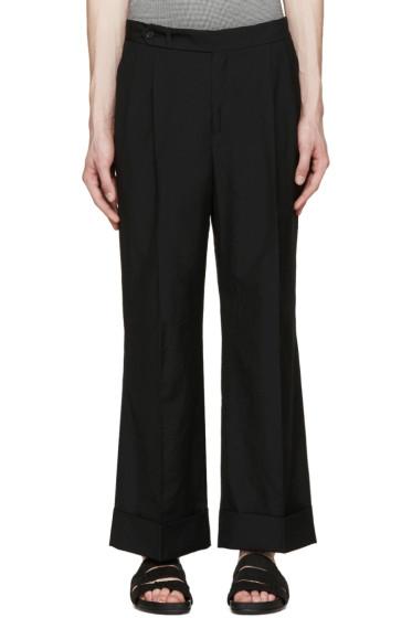 Yang Li - Black Wide Cropped Trousers