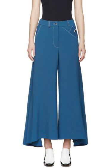 Peter Pilotto - Blue Flared Safari Trousers