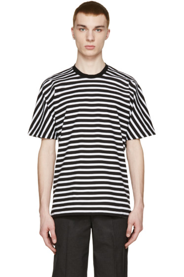 08Sircus - Black & White Striped T-Shirt