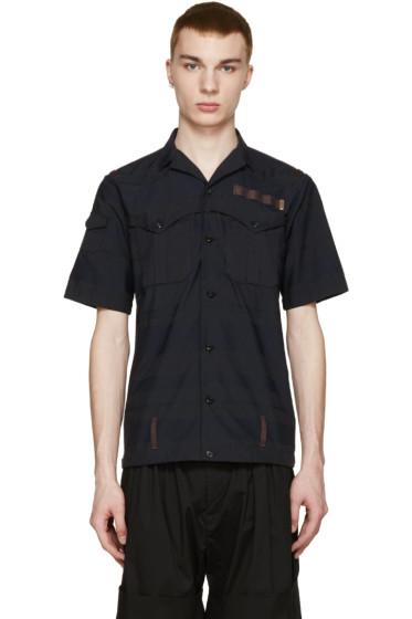Kolor - Navy & Black Striped T-Shirt