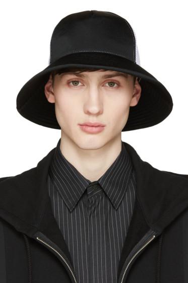 Facetasm - Black & White Mesh Bucket Hat