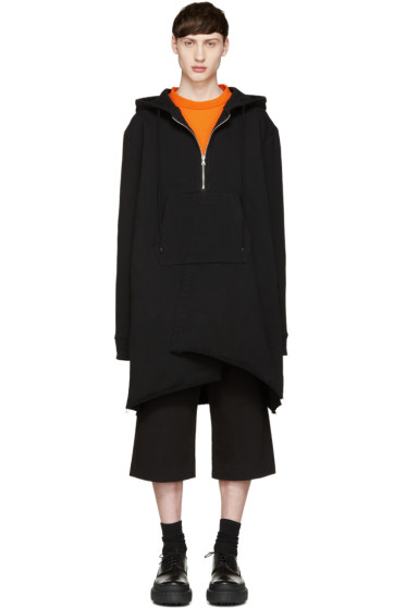 Facetasm - Black Oversized Zip Hoodie