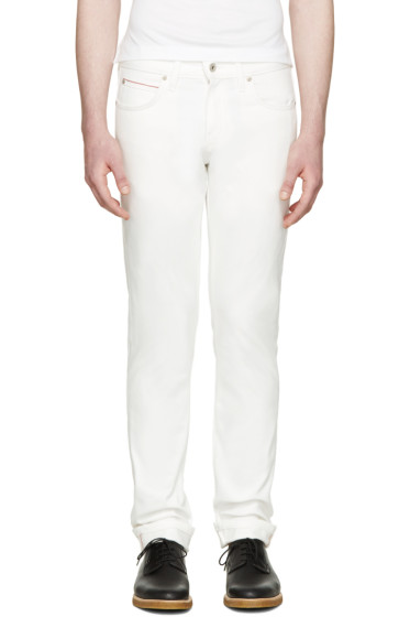 Naked & Famous Denim - White Super Skinny Guy Jeans