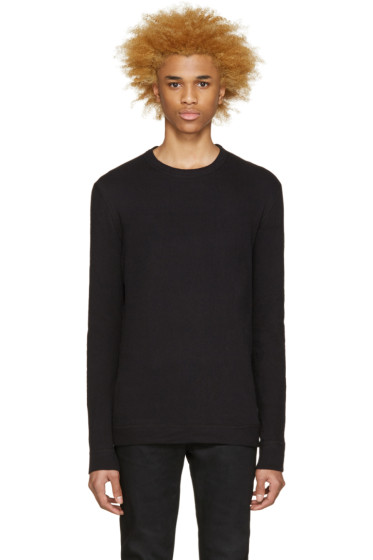 Naked & Famous Denim - Black Slim Vintage Pullover