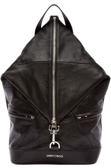 Jimmy Choo - Black Leather Fitzroy Biker Backpack