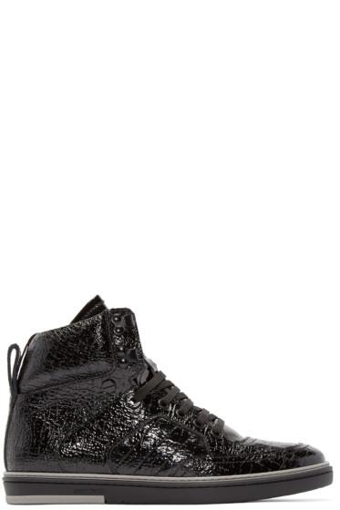 Jimmy Choo - Black Patent Bradley High-Top Sneakers