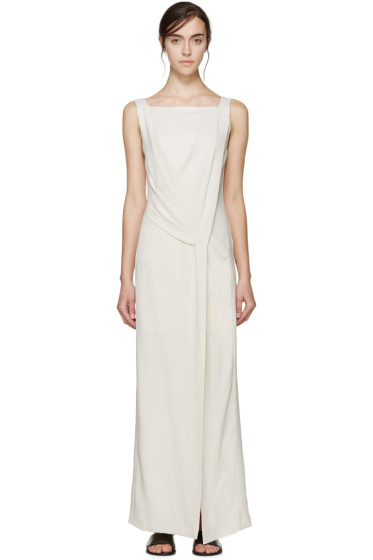 Maiyet - Cream Draped Long Dress