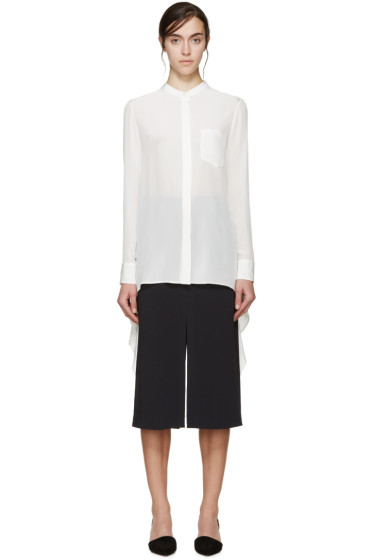 Maiyet - Off-White Silk Asymmetric Shirt