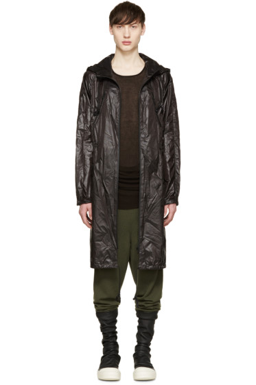D.Gnak by Kang.D - Black Nylon Anorak Coat