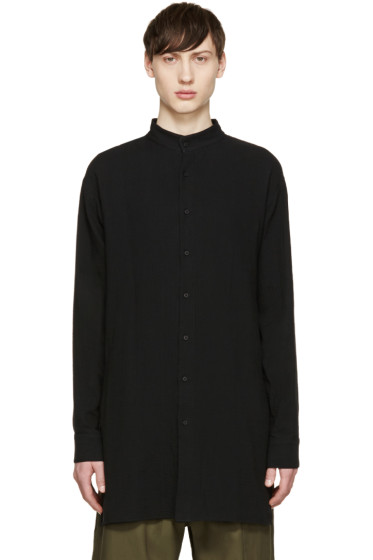 D.Gnak by Kang.D - Black Stand Collar Shirt