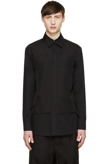 D.Gnak by Kang.D - Black Layered Shirt