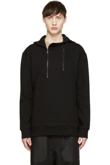 D.Gnak by Kang.D - Black Double Zip Hoodie