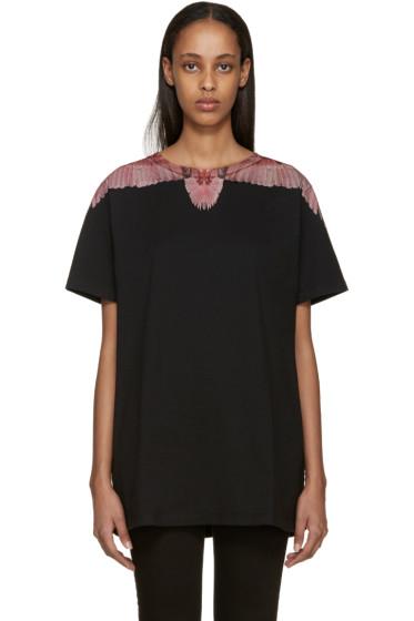 Marcelo Burlon County of Milan - SSENSE Exclusive Black Santa Rosa T-Shirt