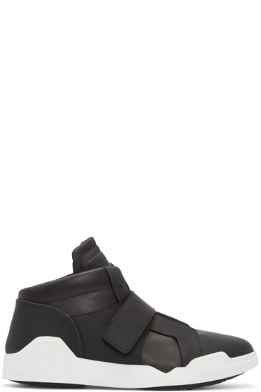 Marcelo Burlon County of Milan - Black Leather Libertad Mid-Top Sneakers