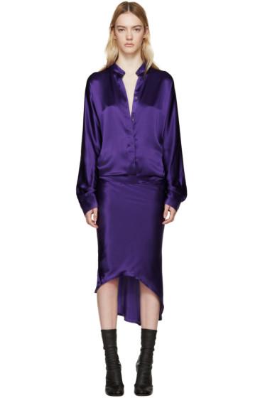 Haider Ackermann - Purple Silk Dress