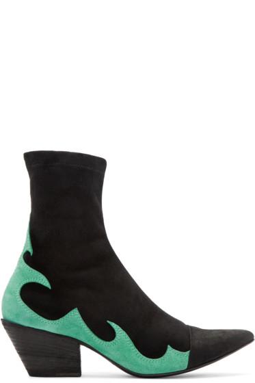 Haider Ackermann - Black High Soba Boots