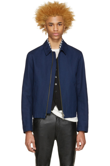Haider Ackermann - Navy Linen Jacket