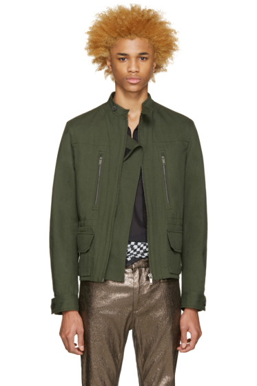 Haider Ackermann - Green Linen Army Jacket