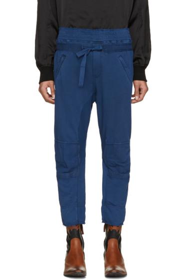 Haider Ackermann - Navy Distressed Biker Lounge Pants