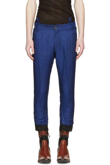Haider Ackermann - Navy Linen Trousers
