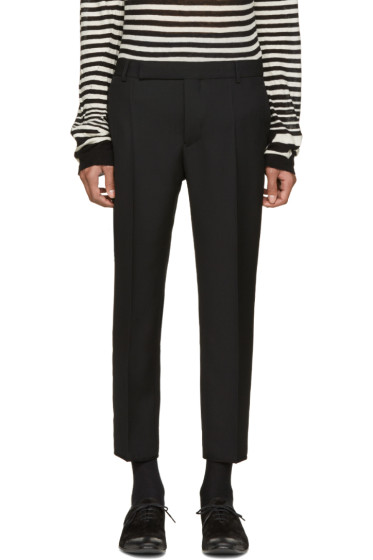 Haider Ackermann - Black Wool Cropped Trousers