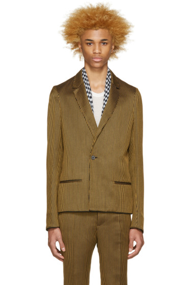 Haider Ackermann - Black & Gold Striped Blazer