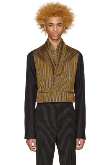 Haider Ackermann - Black & Gold Layered Blazer