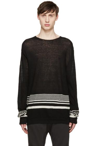 Haider Ackermann - Black Striped Pullover