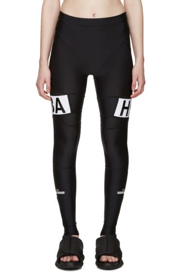 Hood by Air - Black Refle Leggings