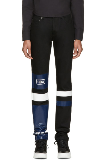 Hood by Air - Black Striped Pedro Jeans