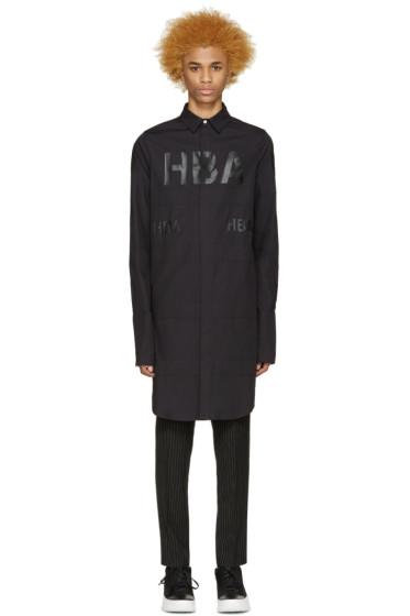 Hood by Air - Black Long 69 Jockey Shirt