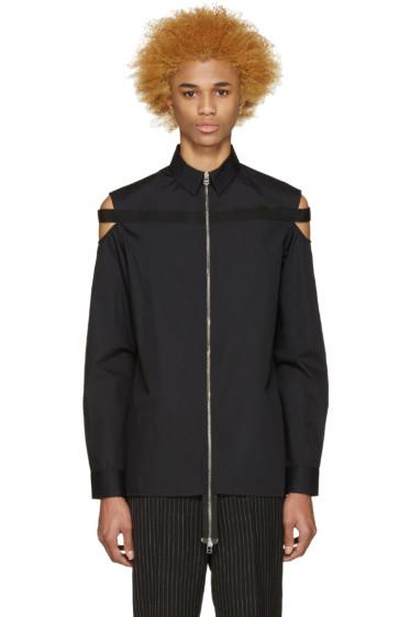 Hood by Air - Black Poplin Cut-Out Shirt