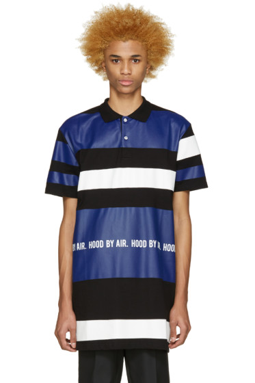 Hood by Air - Tricolor Long Striped Polo