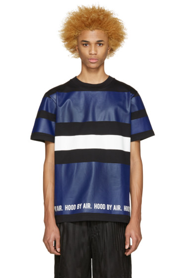 Hood by Air - Tricolor Striped T-Shirt