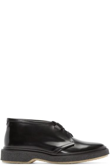 Adieu - Black Leather Type 2 Desert Boots
