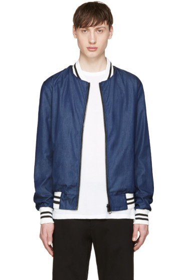 Giuliano Fujiwara - Blue Reversible Bomber Jacket