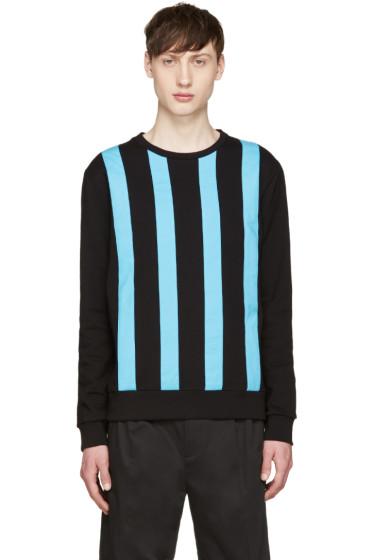 Giuliano Fujiwara - Black & Turquoise Striped Pullover