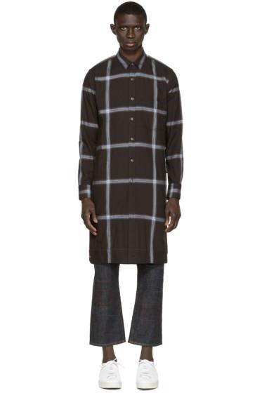 Miharayasuhiro - Black Long Check Shirt