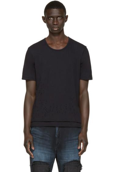 Miharayasuhiro - Black Damaged T-Shirt