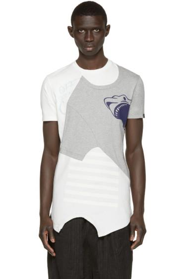 Miharayasuhiro - Grey Reconstructed T-Shirt