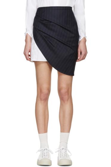 Jacquemus - Navy & White Knot Miniskirt
