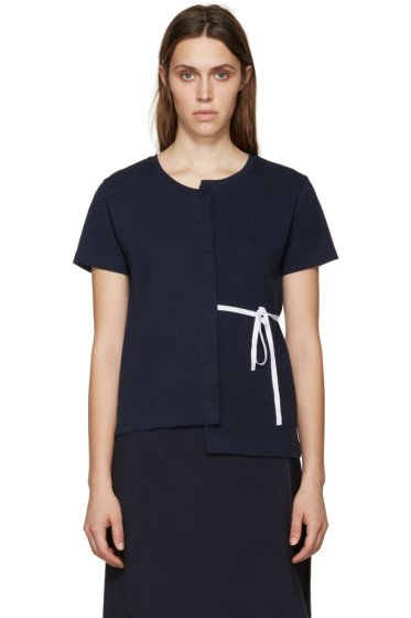 Jacquemus - Navy Deconstructed T-Shirt