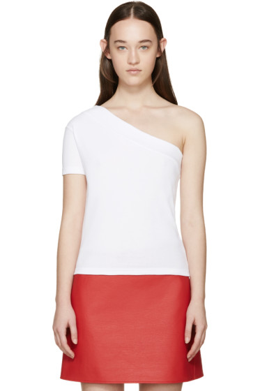Jacquemus - White Single Sleeve T-Shirt