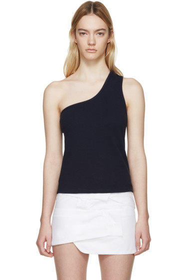 Jacquemus - Navy Single-Shoulder Marcel Top