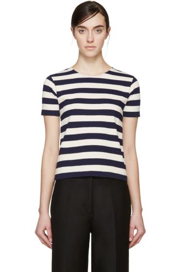 NLST - Navy & Cream Striped T-Shirt