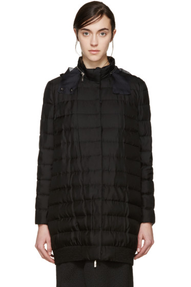 Moncler Gamme Rouge - Black Silk Down Coat