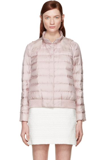 Moncler Gamme Rouge - Pink Silk Quilted Down Jacket