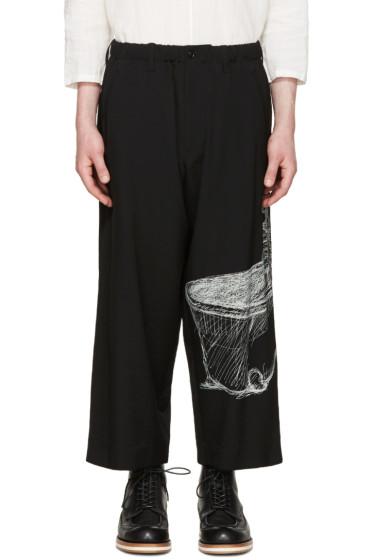 Yohji Yamamoto - Black Wool Drawing Trousers